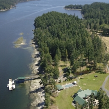 The Timbers, North Pender Island Aerial Photographs, British Columbia, Canada.