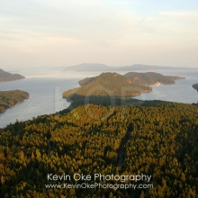 The view from North Pender Island to South Pender Island, North Pender Island Aerial Photographs, British Columbia, Canada.
