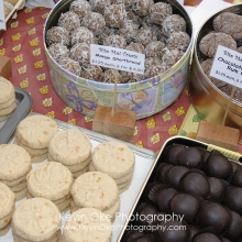 Mango Shortbread and Chocolate Pecan Rum Balls for sale, Salt Spring Island Saturday Market, Ganges, Salt Spring Island, British Columbia