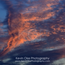Detail photograph of cloud formation at sunset, Tent Island, Gulf Islands, British Columbia, Canada