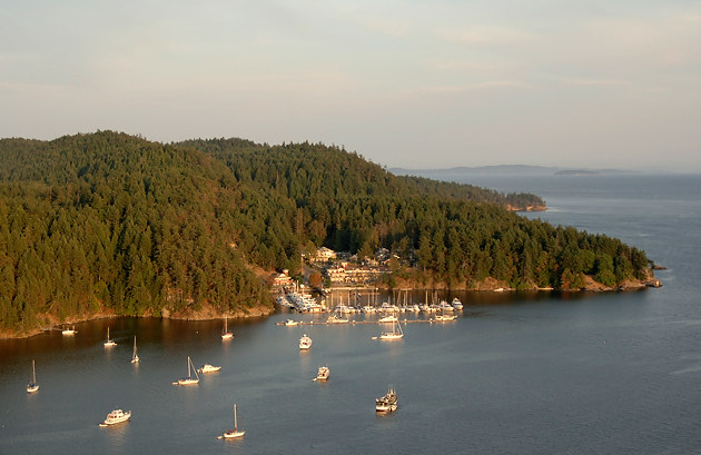 Pender Island Aerial Photographs The Gulf Islands Guide