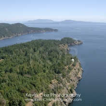 Trincomali, North Pender Island Aerial Photographs, British Columbia, Canada.