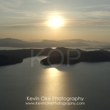 North and South Pender Island Aerial Photographs, British Columbia, Canada.