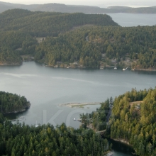 The canal between North and South Pender Island, North Pender Is