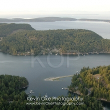 The canal between North and South Pender Island, North Pender Island Aerial Photographs, British Columbia, Canada.