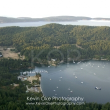 Browning Harbour, North Pender Island Aerial Photographs, British Columbia, Canada.
