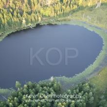 Roe Lake, North Pender Island Aerial Photographs, British Columbia, Canada.