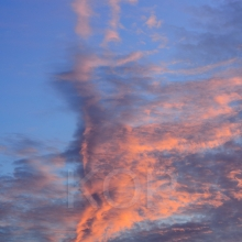 Abstract photograph of a cloud formation at sunset, Tent Island, Gulf Islands, British Columbia, Canada
